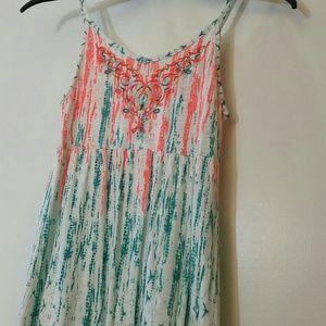Lucky Brand boho sequin summer dress